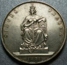 1871 Prussia FRANCO-PRUSSIAN WAR Silver VICTORY THALER >King to KAISER WILHELM I