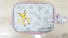 Pokemon XY I Love Pikachu + Big Zipper Pouch RAICHU Pink Lunch Bag/Box Banpresto