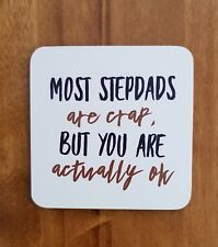 FUNNY STEPDAD GIFT IDEA COASTER STEP DAD STEPFATHER CHEAP BIRTHDAY PRESENT