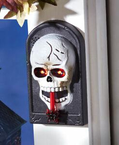Lighted Spooky Animated Skeleton Halloween Doorbell