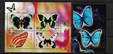 NIUE 2004, Butterflies, set of  4 (MS) + SS, MNH**(088)