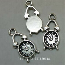 25pc Tibetan Silver clock Charm Beads Pendant Jewellery Making  PL740