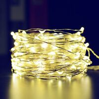 20/100 LED Micro Rice Wire Copper Fairy String Lights Party Warm white/Multi