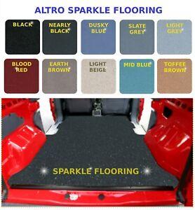 Various Camper Van Sparkle Vinyl - Anti Slip Safety Flooring - Transporter Lino