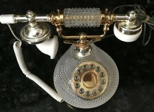 Vintage TT System Corporation Crystal Touch Tone Table Phone Retro  *