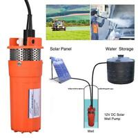 12V Submersible Deep Solar Well Alternative Solar Battery Water Pump Powerful US