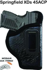 IWB *Inside Waistband* Soft Leather Gun Holster -   Springfield XDs 45ACP