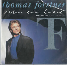 "Thomas Forstner ""Nur ein lied"" Eurovision Austria 1989 English text sleeve"