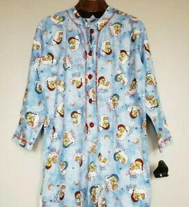 Vintage 90s 1998 Retro Warner Bros Looney Tunes Tweety One Piece Pajamas Small