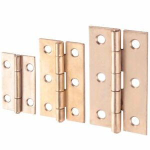 CHOOSE SMALL-LARGE Brass Butt Hinges Small Cupboard/Cabinet Door Fixing Tool