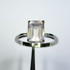 814 - Dezenter Ring mit Rosenquarz aus 925 Silber - 2226