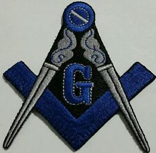 Freemason Masonic Blue and Grey Iron on Patch