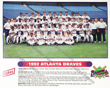 1992 ATLANTA BRAVES TEAM 8X10 PHOTO NATIONAL LEAGUE CHAMPIONS WORLD SERIES