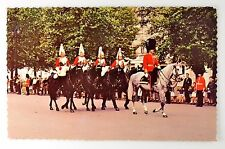 Mounted Guards in The Mall London Vintage Postcard collectible
