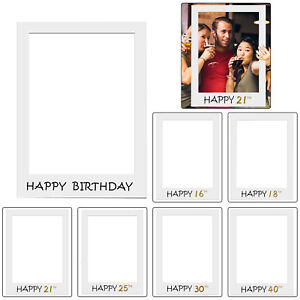 1 Piece Large Size Selfie Photo Frame 16/18/21/25/30/40/50 Birthday Party Props