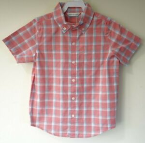New W/Tags Janie and Jack 2020 Summer 0 Red White Blue Plaid Shirt Boy's Size 10