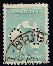 1929 Australia Kangaroo 1/- Small Mult' Wmk Perf' Small OS used SG 0116