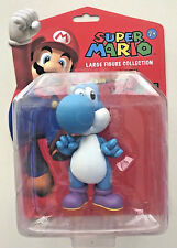 Super Mario Figure Yoshi Blue Toy Nintendo Collectable Wii DS Gaming 12cm Large