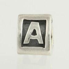New Pandora Charm Bead - Sterling Silver Alpha A 790323A Retired Letter ALE 925