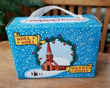 Vintage Christmas Candy Cracker Box Church Snow Scene Silent Night