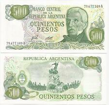 ARGENTINA $ 500.00 P-303 ND(1977) UNC B-2421 SERIE A RARE SIGN E.J.PORTA-A.C.DIZ