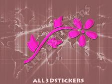 Pegatina Flor 3D Relieve - Color Rosa