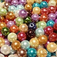 50 pieces Mixed Color Glass Pearl Beads / K1221 - 10mm