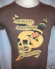 ED HARDY  by Christian Audigier Death Before Dishonor T Shirt Size SMALL NWT
