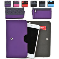 Womens Protective Wallet Case Cover for Smart Cell Phones by KroO ESDC-15 MD