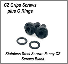 NEW CZ-75 Grip Screws Stainless steel w/ black oxide treatment includes O rings