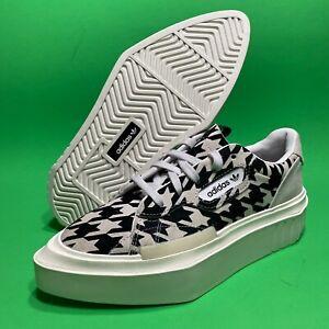Adidas Originals  Black White Hypersleek Houndstooth Sneakers G54058 Women's 6.5