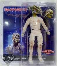"MUMMY EDDIE Open Mouth Iron Maiden Retro Style 8"" Scale Music Figure Neca 2014"