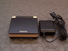 Nintendo Game Boy Advance SP Black and GOLD Syst AGS101 BRIGHTER MODEL