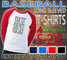PERSONALISED ADULT SPORTS STAG HEN BASEBALL LONG SLEEVED TEE T-SHIRT NEW CUSTOM