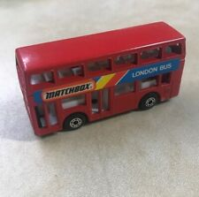 Matchbox London Bus Toy Vehicle Collectible Red Die Cast Metal 1981 Macua