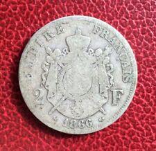 France - Napoléon III -  Rare et Jolie  monnaie de 2 Francs 1866 K