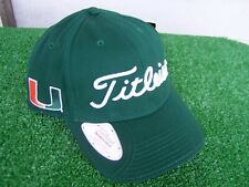 Titleist Miami Hurricanes Canes Golf Ball Marker Hat Cap NCAA Adjustable NEW