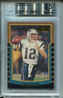 2000 Bowman Football #236 Tom Brady Rookie Card RC Graded BGS Nm Mint+ 8.5
