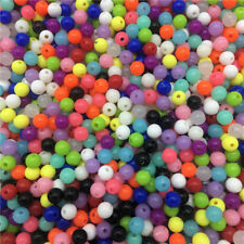 6mm 8mm 10mm Beads Acrylic Round Spacer Loose Beads DIY Jewelry Making