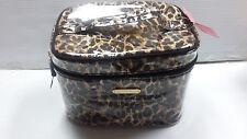 Victoria's Secret Leopard Makeup Cosmetic Makeup Bag Train Case