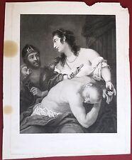 Eau-forte , Samson et Dalila, première partie du 19ème siècle