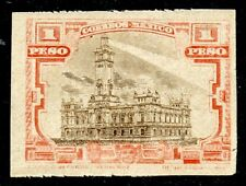 MEXICO - SC #513 TC-6 1 PESO VERMILION AND BROWN IMPERF (AC030)