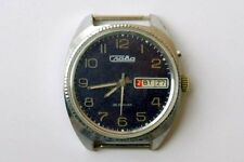 SOVIET OLD RELOJ WATCH SLAVA GLORIA MECANICO 26 PIEDRAS. CALENDARIO MADE IN URSS
