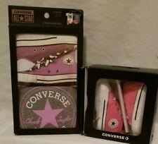 New Converse pink crib shoes size 2 matching  pak infant set bodysuits gray girl