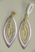 NEW Alexis Bittar Pave Crystal and Lucite Orbital Post Light Purple Earrings