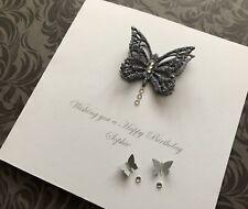 Personalised Handmade Birthday Cards 16 18 21 30 40 50 60 70 Butterflies