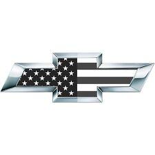 2 BW Classic American Flag Universal Chevy Silverado Bowtie Vinyl Sheets Overlay