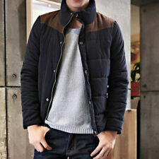 Mens Thickened Padded Jacket Casual Peach Skin Cotton Coat Blazer Warm Overcoat