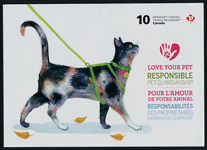 Canada 2834a Booklet MNH Animals, Love your Pet, Cat, Dog, Flowers