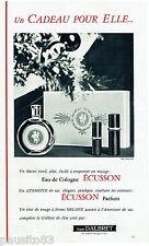 PUBLICITE ADVERTISING 115  1963  JEAN D'ALBRET  eau de Cologne ECUSSON atomiseur